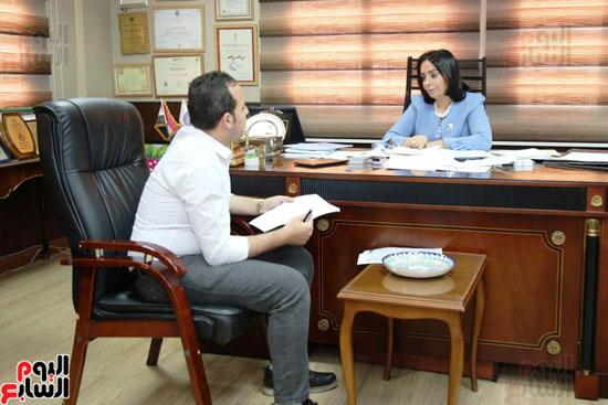 الدكتورة مايا مرسى رئيسة المجلس القومى للمرأة (5)