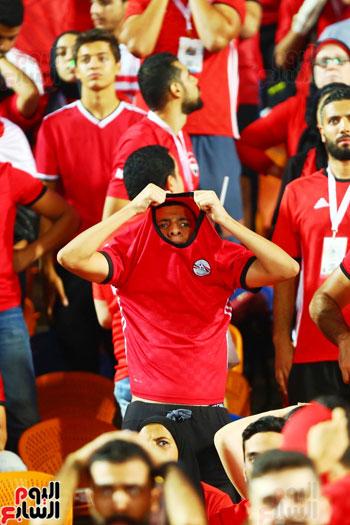 حزن جماهير مصر بعد مباراة  جنوب أفريقيا