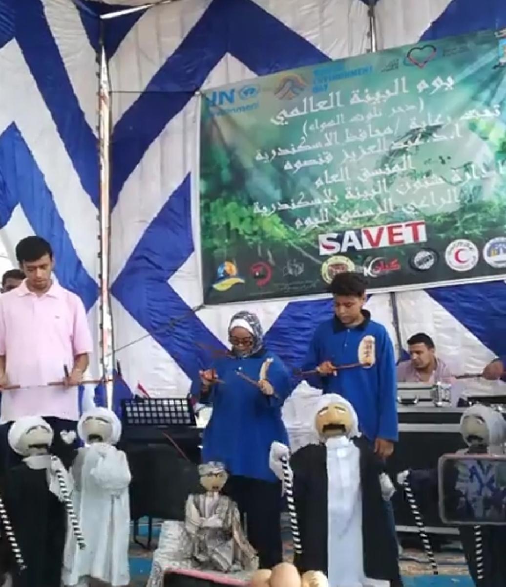 عروض فنية على شاطئ السرايا بالإسكندرية بمناسبة اليوم العالمى للبيئة (2)