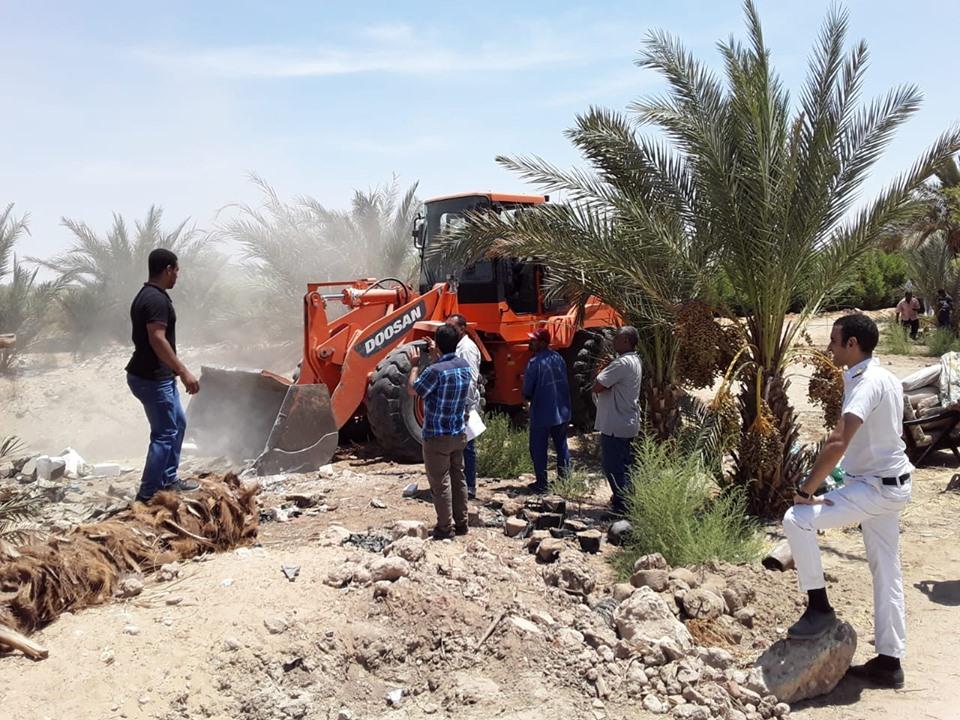 إزالة 8 حالات تعدي علي أكثر من 22 فدان بمدينة البياضية بالأقصر (1)