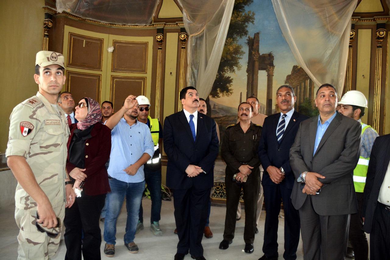 محافظ القليوبية يتفقد أعمال ترميم قصر محمد على بشبرا الخيمة (6)