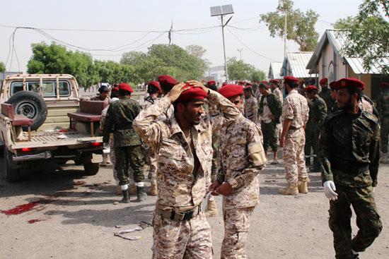 صدمة جنود الجيش اليمنى