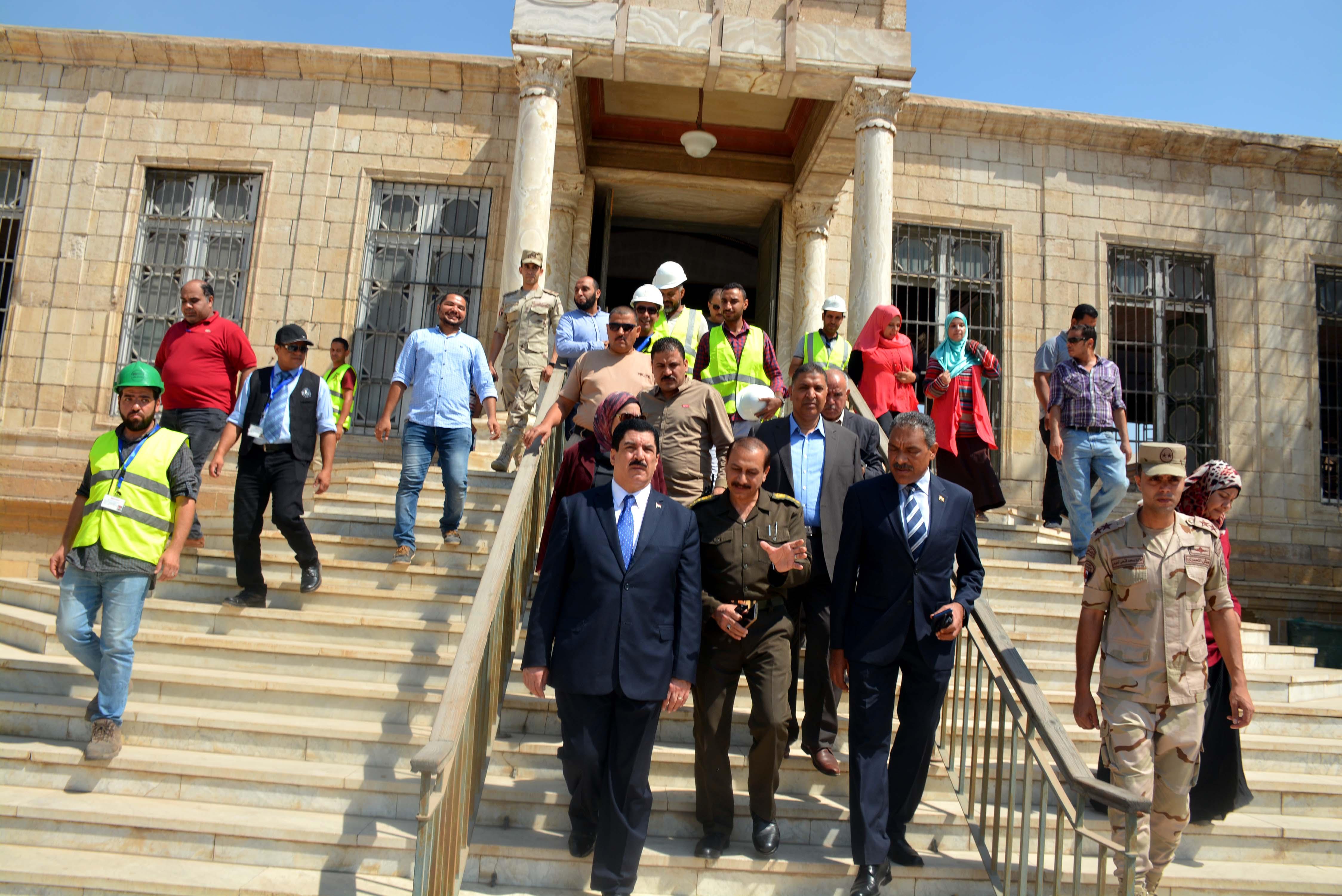 محافظ القليوبية يتفقد أعمال ترميم قصر محمد على بشبرا الخيمة (5)