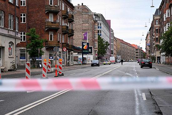 إغلاق الشارع بعد الحادث