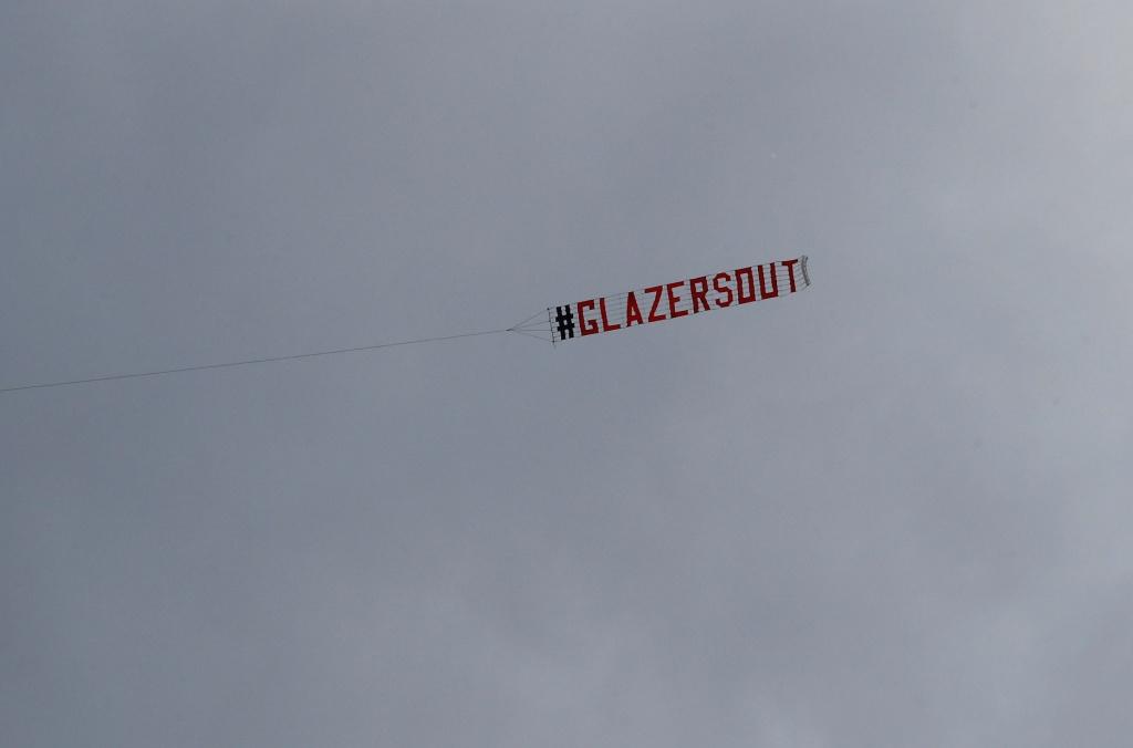 لافتة جماهير مانشستر يونايتد