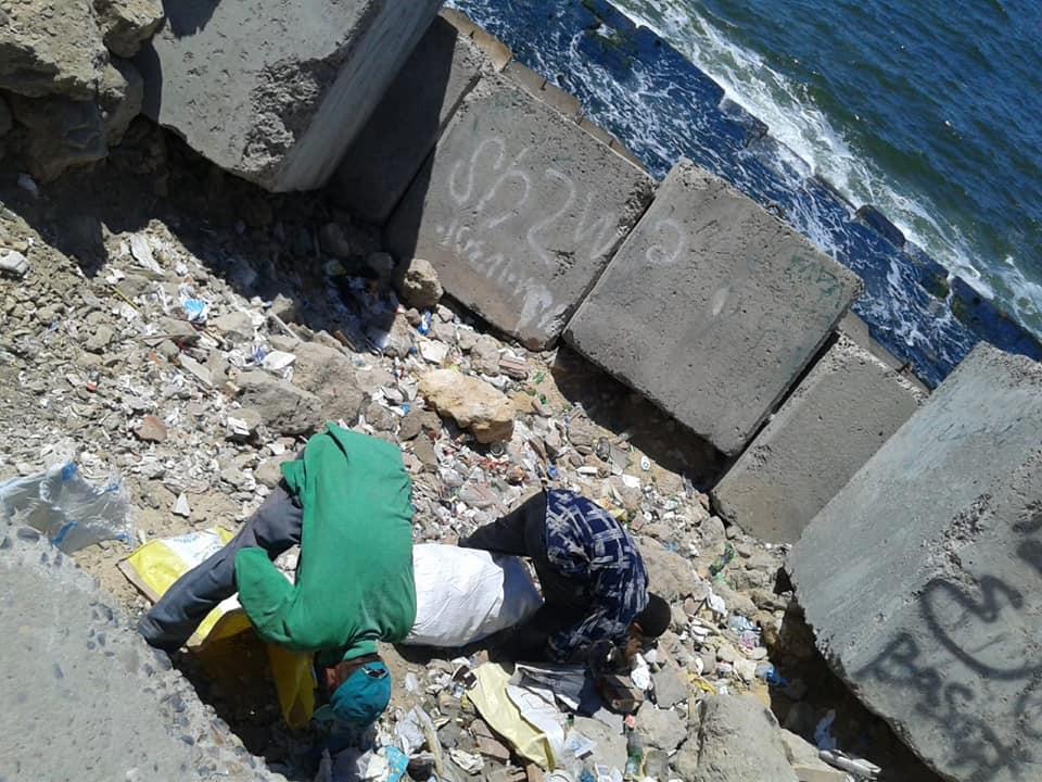 تطهير الشواطئ وسط الاسكندرية (2)