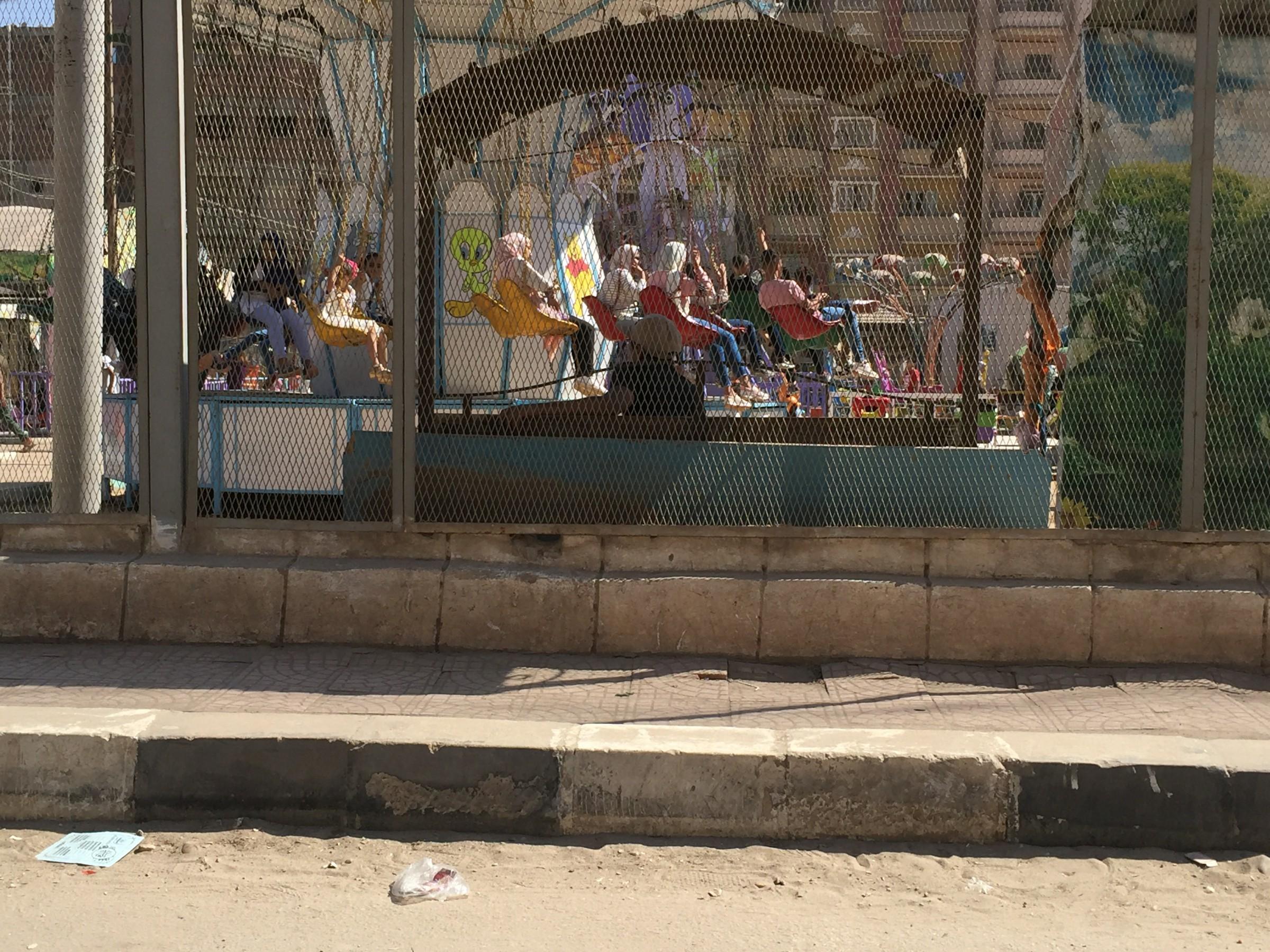 إقبال كبير على الحدائق والمتنزهات فى أول أيام عيد الأضحى بالغربية (2)
