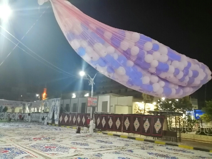 رفع علم مصر ووضع بالونات  أعلى  مسجد عمر بن عبد العزيز (3)