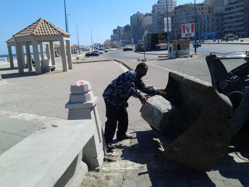 تطهير الشواطئ وسط الاسكندرية (3)