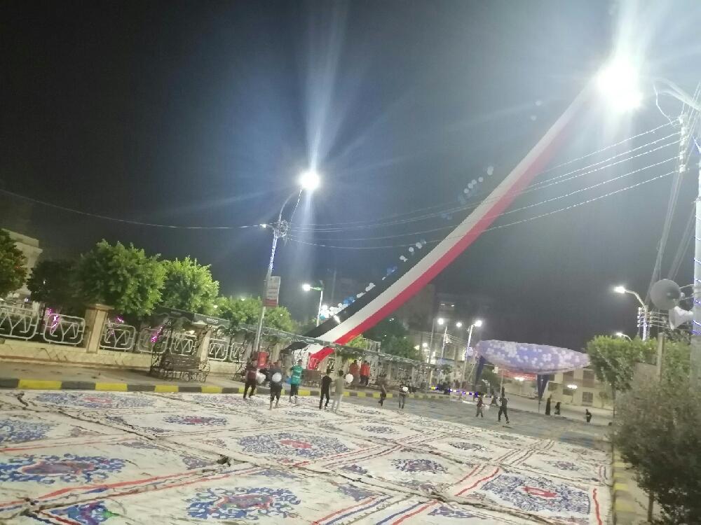 رفع علم مصر ووضع بالونات  أعلى  مسجد عمر بن عبد العزيز (4)