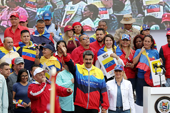 نيكولاس مادورو يحى مؤيديه