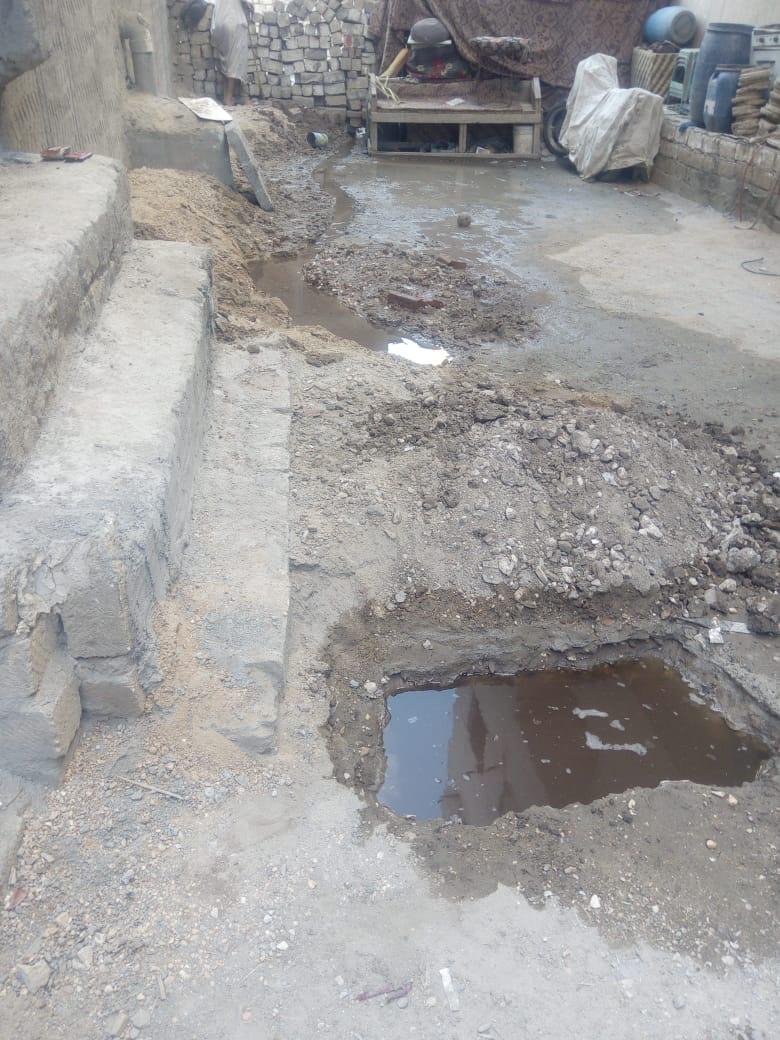 مياه الصرف الصحى بمنطقة المرور بطهطا