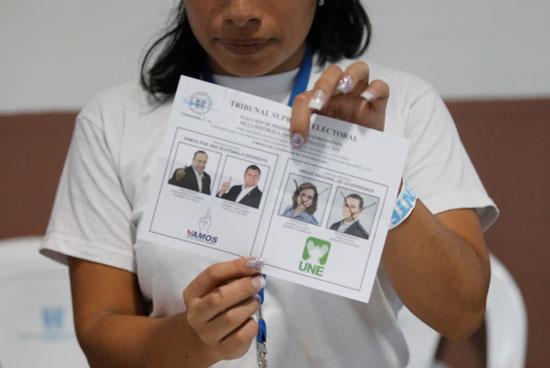 فرز الأصوات بجواتيمالا