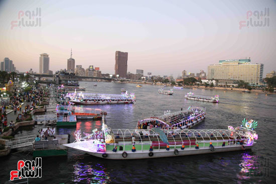 منظر النيل البديع  ساعة الغروب