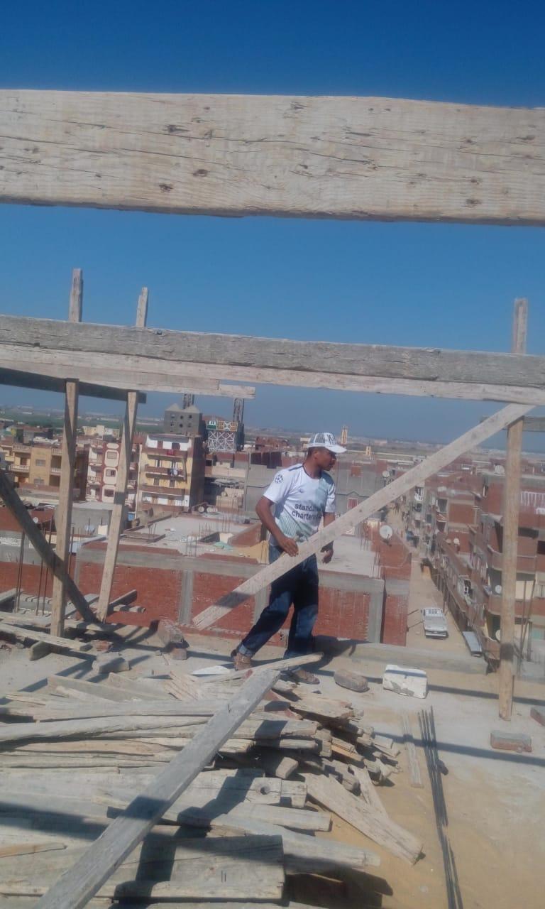 التصدى لبناء مخالف غرب الإسكندرية  (2)