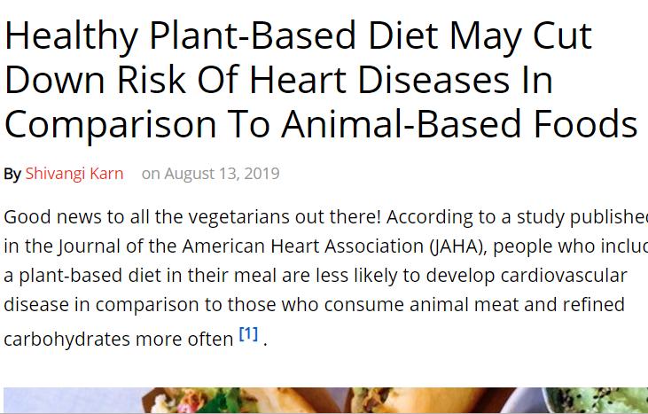 النظام الغذائى النباتى يحمى من اممراض القلب