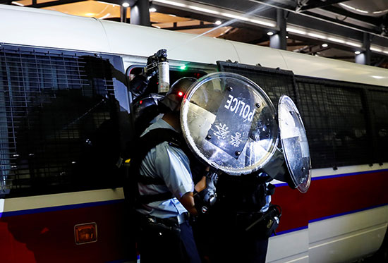 قوات الشرطة فى هونج كونج