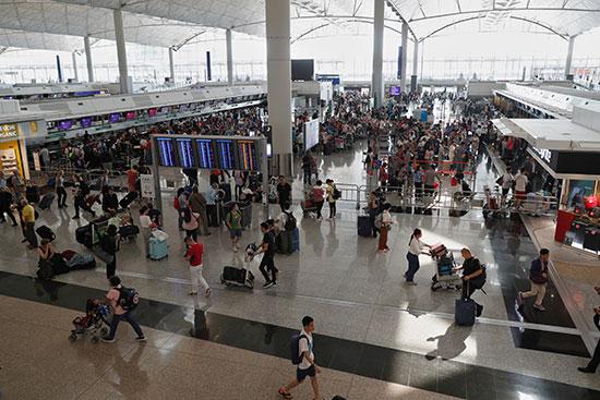 صالة مطار هونج كونج