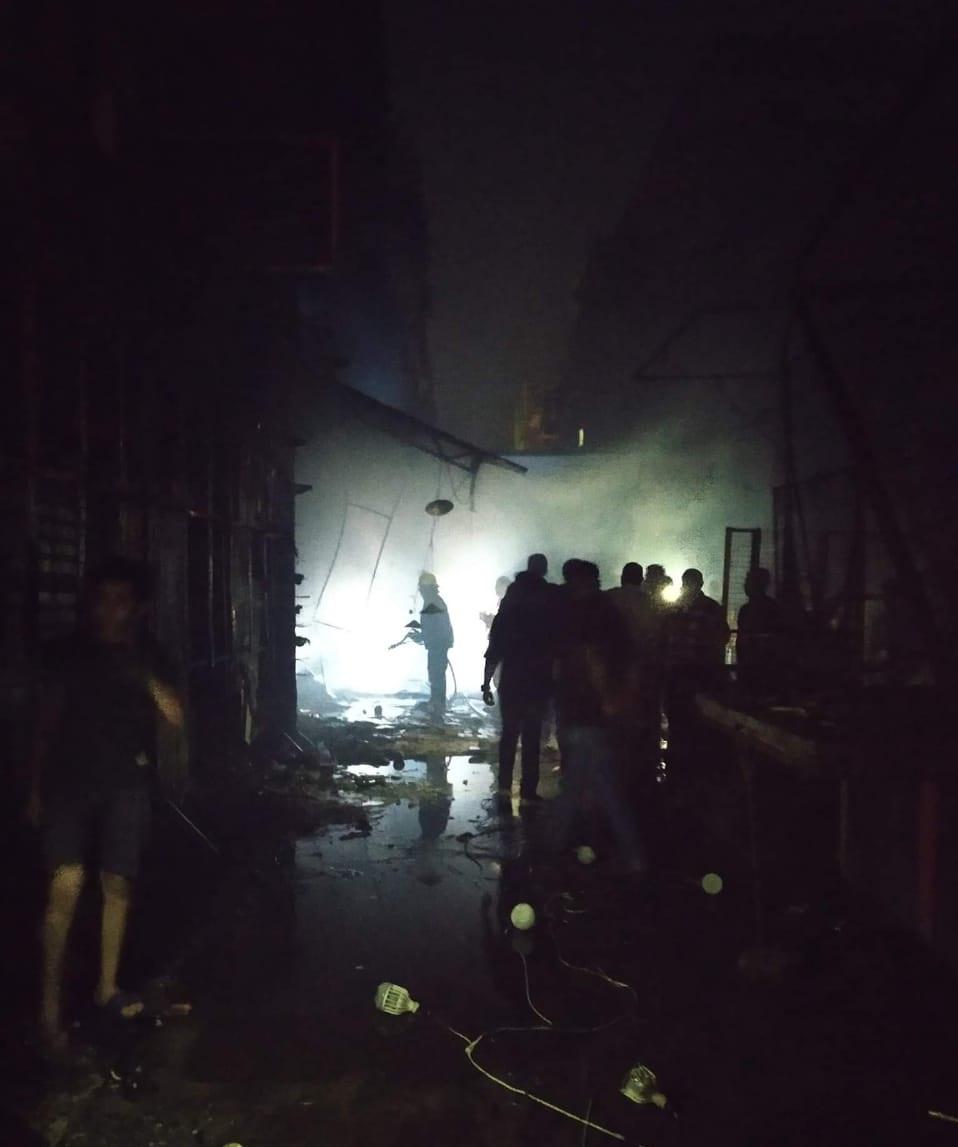 حريق شارع مصر بالإسماعيلية (1)
