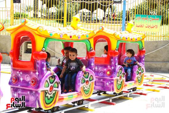 قطار الاطفال بملاهى الفسطاط