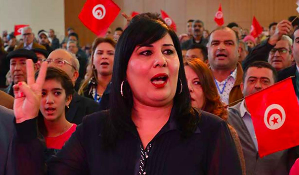 عبير موسى رئيسة حزب الدستورى الحر التونسي