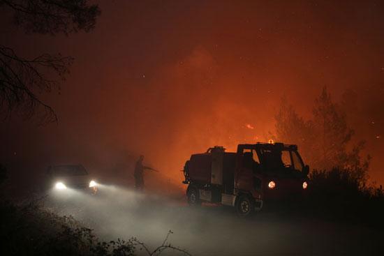 حرائق هائلة بغابات جزيرة إيفيا فى اليونان (6)