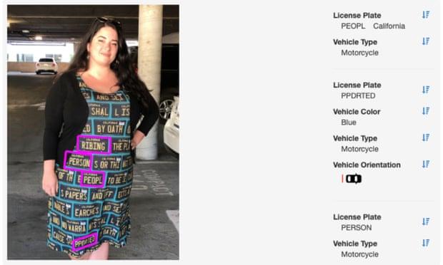فستان قادر على تحدى جمع المعلومات