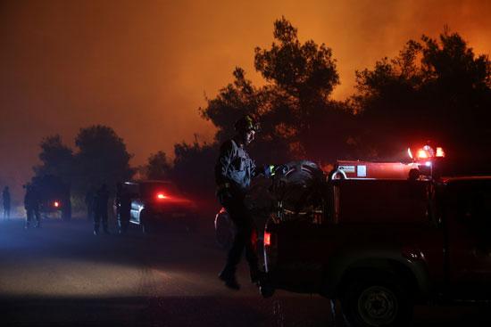 حرائق هائلة بغابات جزيرة إيفيا فى اليونان (3)