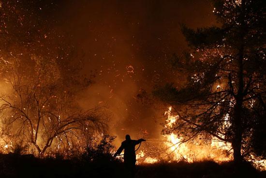 حرائق هائلة بغابات جزيرة إيفيا فى اليونان (10)