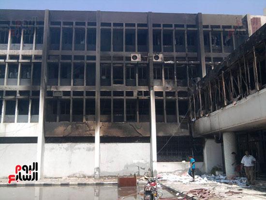 حريق محافظة بنى سويف (1)