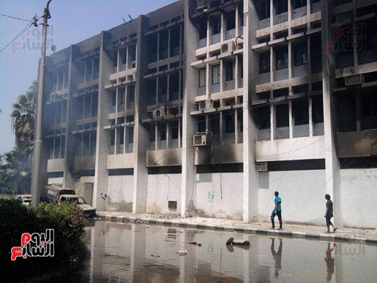 حريق محافظة بنى سويف (3)