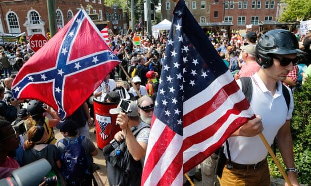 مظاهرات القوميين البيض