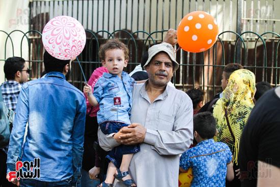 استمرار احتفال المصريين بالعيد