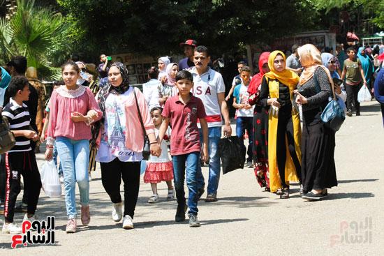 استمرار  احتفال  المصريين بعيد الاضحي