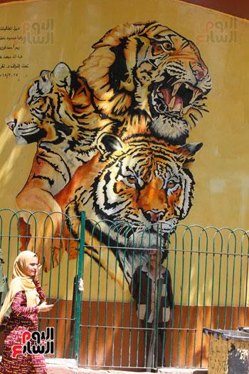 بيت الاسد يستقبل الزائرين بحديقة الحيوان