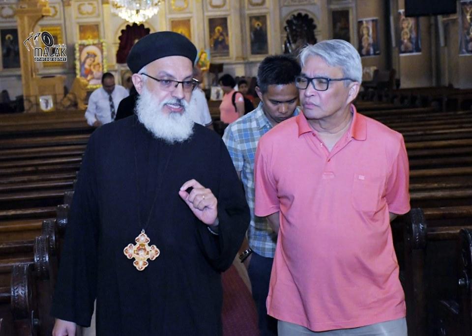 سفير الفلبين يزور التدرائية المرقسية (3)