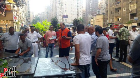 غلق مطعم السورى شرق الاسكندرية و تشميعه بالشمع الأحمر (3)
