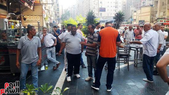 غلق مطعم السورى شرق الاسكندرية و تشميعه بالشمع الأحمر (8)