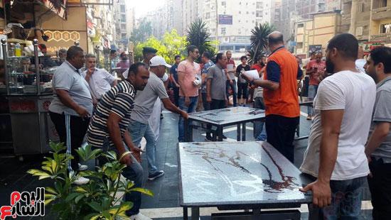 غلق مطعم السورى شرق الاسكندرية و تشميعه بالشمع الأحمر (13)