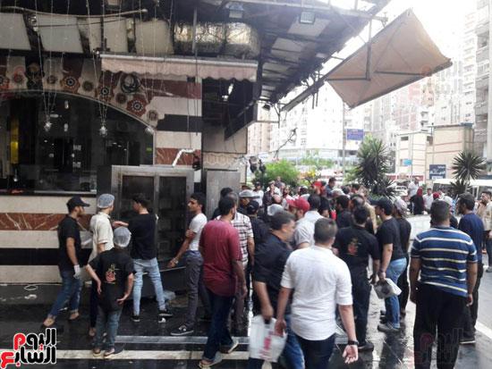 غلق مطعم السورى شرق الاسكندرية و تشميعه بالشمع الأحمر (14)