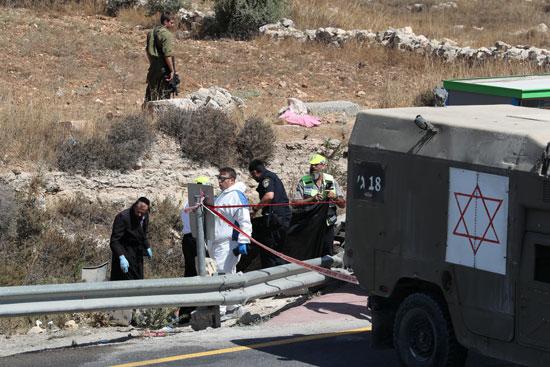 غلق المنطقة عقب استشهاد المواطن الفلسطينى