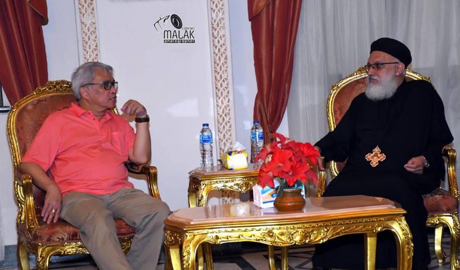 سفير الفلبين يزور التدرائية المرقسية (1)
