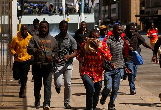 هروب المتظاهرين