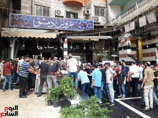 غلق مطعم السورى شرق الاسكندرية و تشميعه بالشمع الأحمر (2)