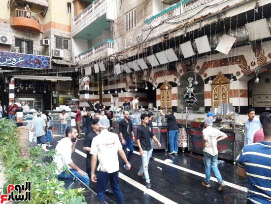 غلق مطعم السورى شرق الاسكندرية و تشميعه بالشمع الأحمر (1)