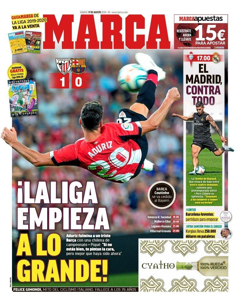 غلاف صحيفة ماركا