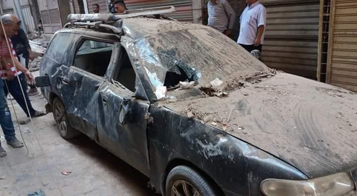 إنهيار منزلين وتحطم سيارة ملاكى (5)