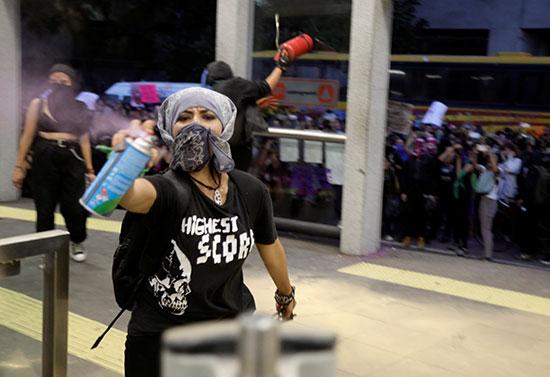 Mexican protester