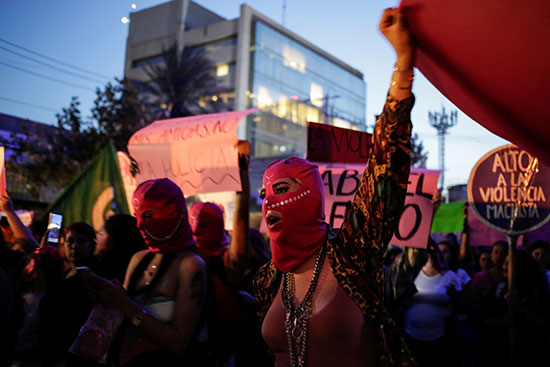Demonstrators in Mexico