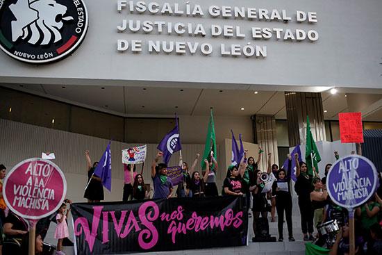 Side of the demonstrators